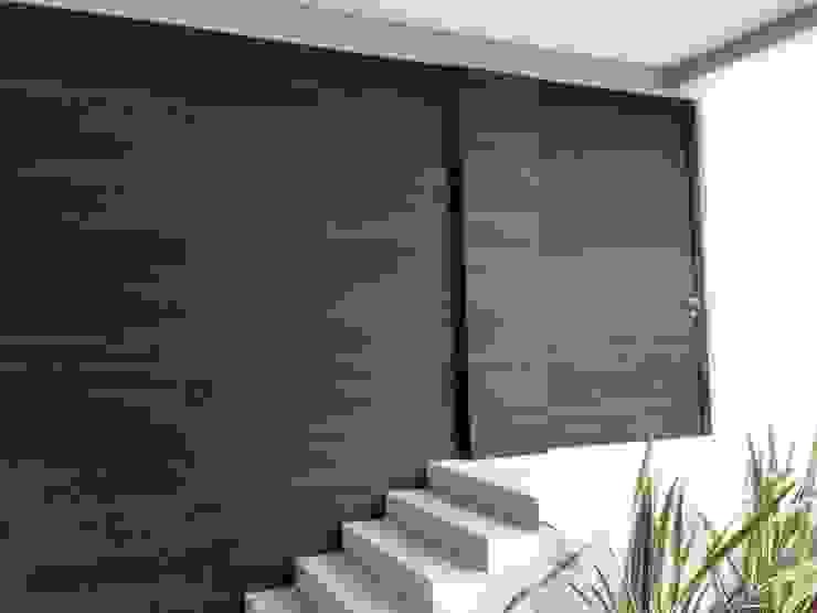 fachada deck de bambu Casas de estilo minimalista de Manat Minimalista