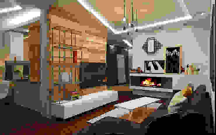 Гостиная: Гостиная в . Автор – studio forma, Лофт