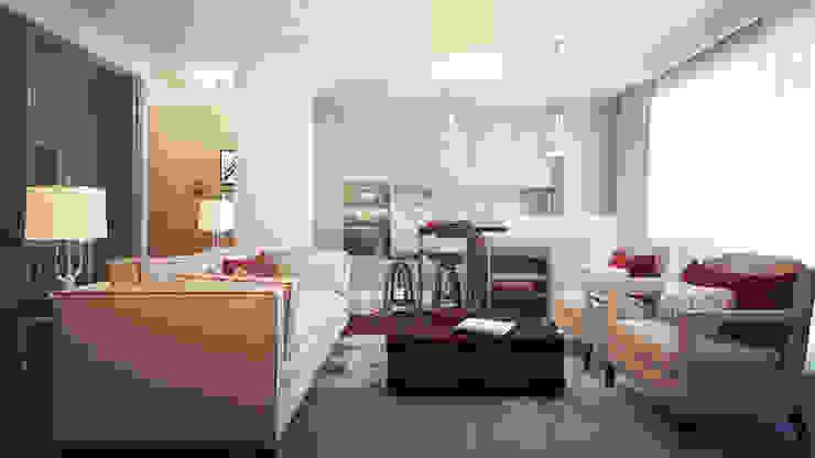 Квартира Skandi Klubb Столовая комната в скандинавском стиле от KYD BURO Скандинавский