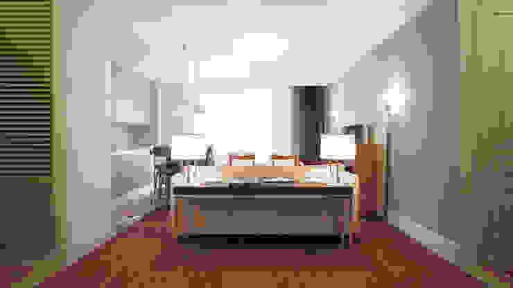 Salas de estilo escandinavo de KYD BURO Escandinavo