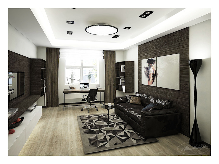 «50 оттенков кофе» Рабочий кабинет в стиле модерн от Medianyk Studio Модерн