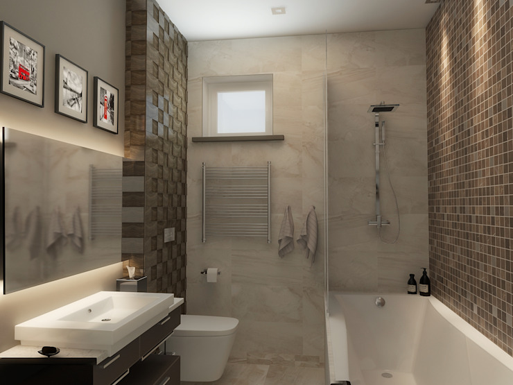Ванная Ванная комната в эклектичном стиле от studio forma Эклектичный