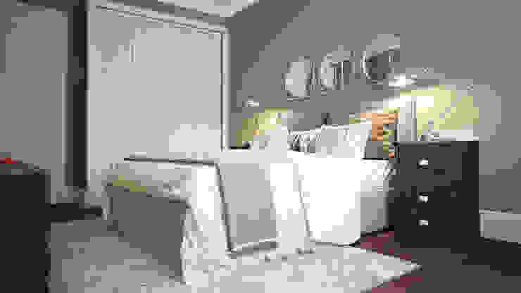 Projekty,  Sypialnia zaprojektowane przez KYD BURO, Skandynawski