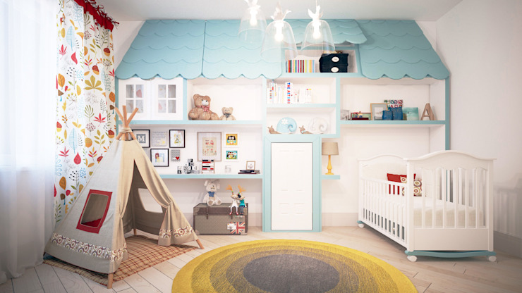 Scandinavian style nursery/kids room by KYD BURO Scandinavian
