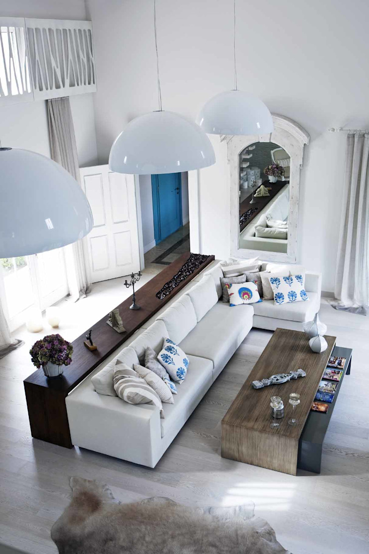 Çeşme Port Alaçatı Modern Oturma Odası EKE Mimarlık Modern