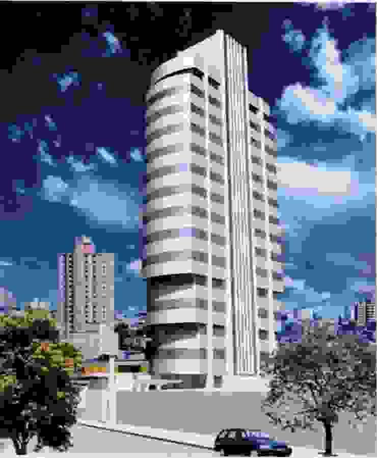 Foto maquete eletrônica Edifícios comerciais modernos por Douglas Piccolo Arquitetura e Planejamento Visual LTDA. Moderno