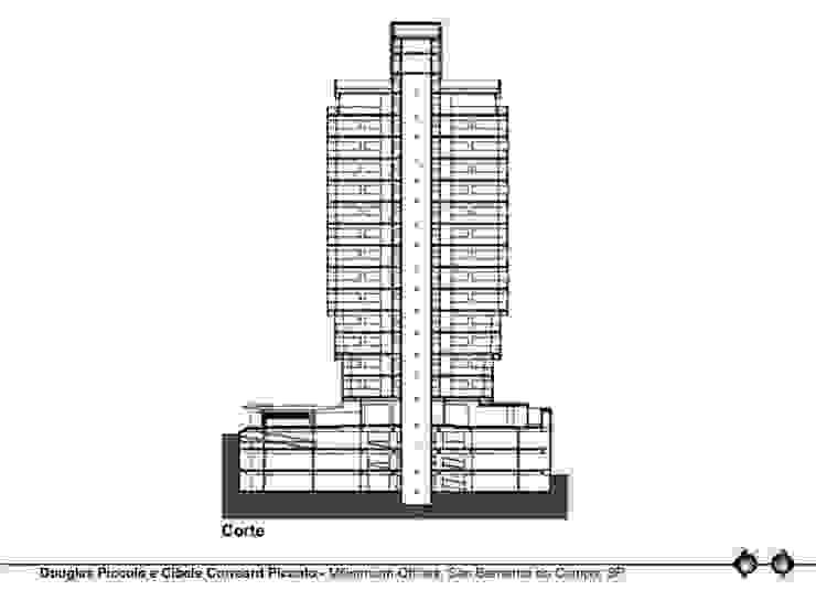 CORTE Edifícios comerciais modernos por Douglas Piccolo Arquitetura e Planejamento Visual LTDA. Moderno