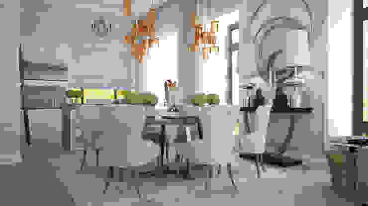 Загородный дом Wright-Park Столовая комната в эклектичном стиле от KYD BURO Эклектичный