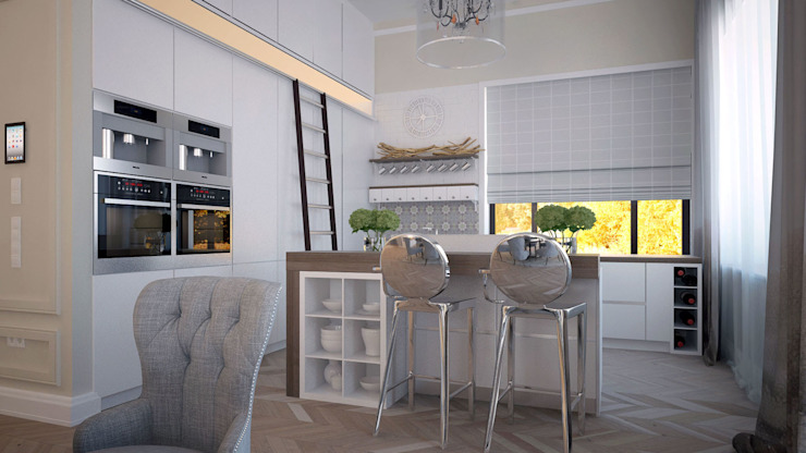 Загородный дом Wright-Park Кухни в эклектичном стиле от KYD BURO Эклектичный