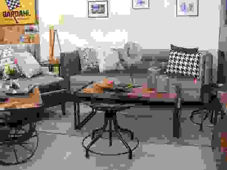 Sala de estilo vintage.:  de estilo industrial por Noelia Ünik Designs, Industrial