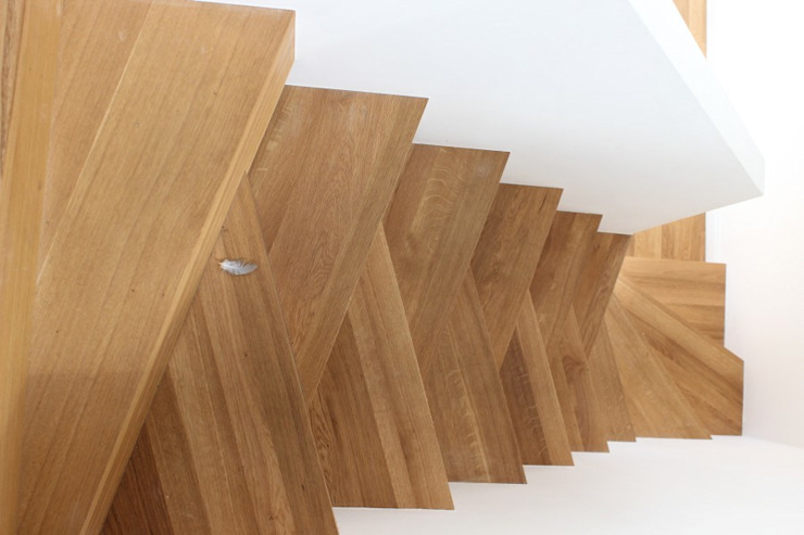 Dom w Rybojedzku Nowoczesny korytarz, przedpokój i schody od Piechnik Architekci Nowoczesny