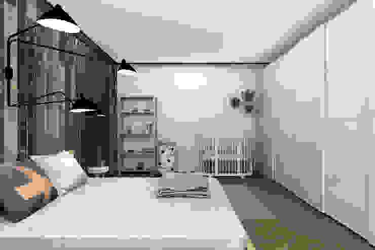 Комната для молодой семьи. Спальня в скандинавском стиле от ИНТЕРЬЕР-ПРОЕКТ.РУ Скандинавский