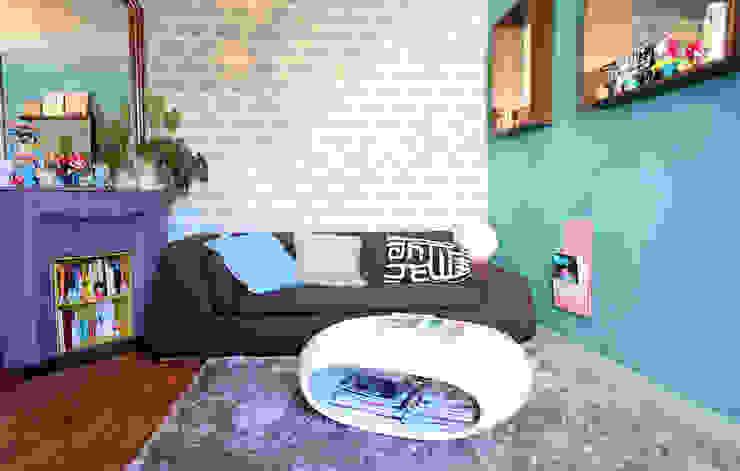 Projekty,  Salon zaprojektowane przez Sandra Dages, Eklektyczny