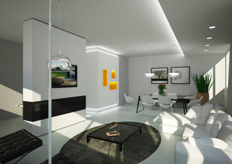 Interior Massafra Soggiorno moderno di B+P architetti Moderno