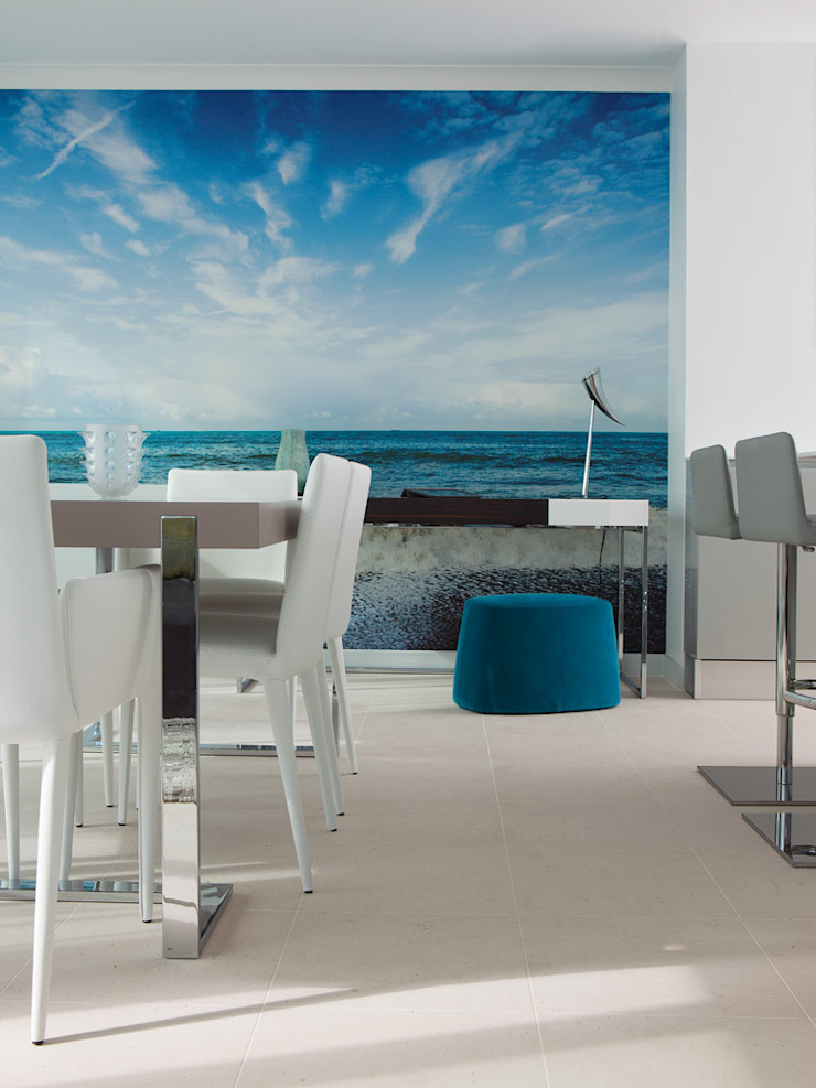 London Docklands penthouse Modern dining room by At Home Interior Design Consultants Cambridge Modern