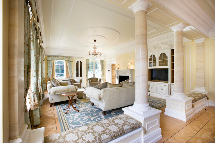 Reception Room Classic style houses by Christopher Cook Designs Limited Classic