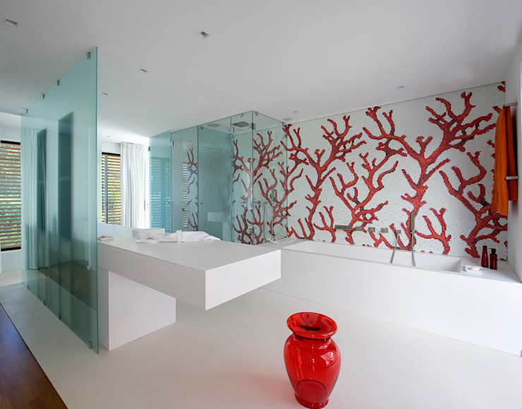 Ванные комнаты в . Автор – Vincent Coste Architecte,