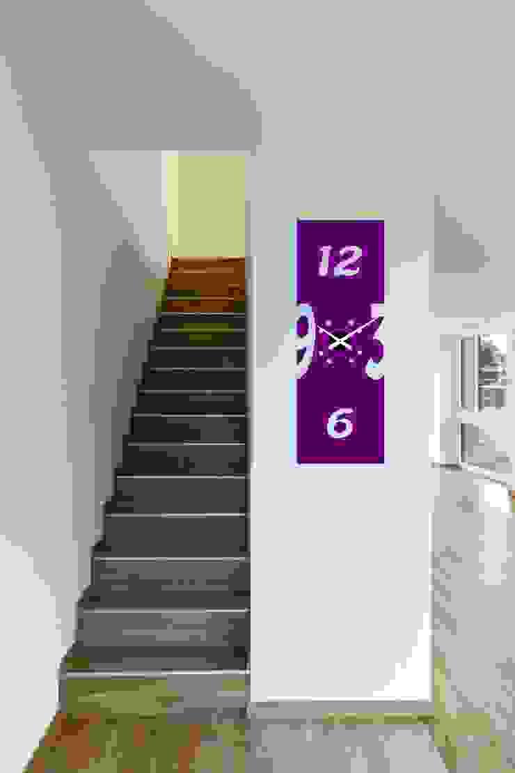 Reloj de pared de relojesyvinilos Moderno