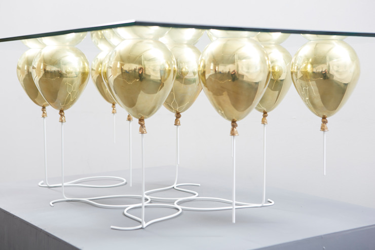 The Up Balloon Coffee Table gold by Duffy London