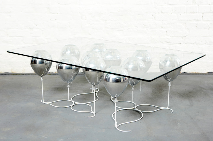 The Up Balloon Coffee Table silver Duffy London Living roomSide tables & trays