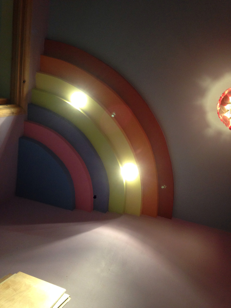 Rainbow ceiling Nursery/kid's room by Lancashire design ceilings