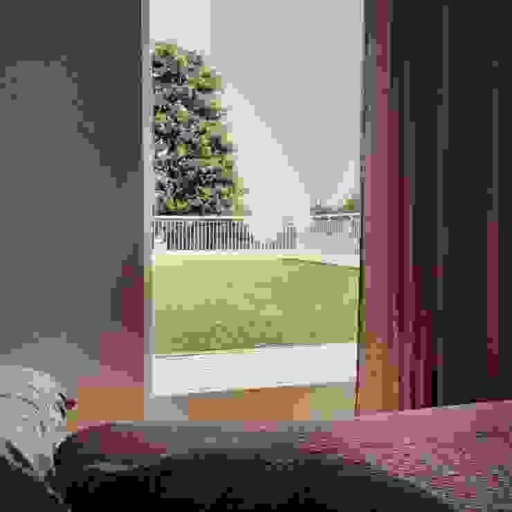 la camera con terrazza giardino Balcone, Veranda & Terrazza in stile mediterraneo di m12 architettura design Mediterraneo