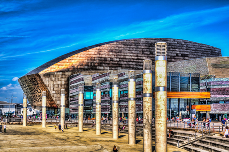 Wales Millennium Centre, Cardiff Bay: eclectic  by Steve Purnell, Eclectic