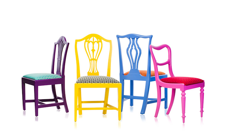 Klash Chairs.: eclectic  by Standrin, Eclectic Solid Wood Multicolored
