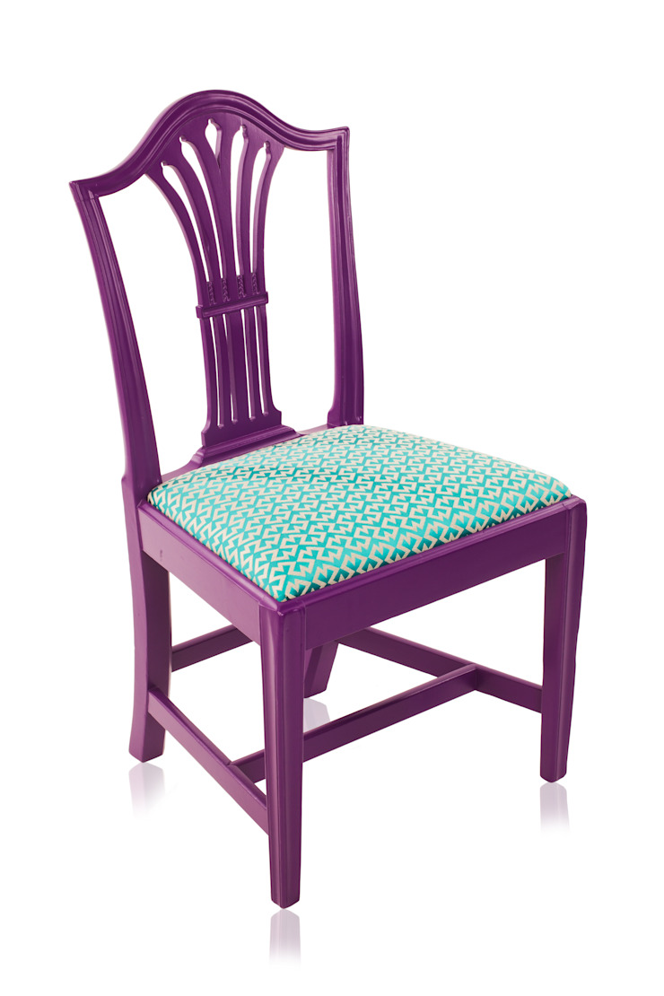 Klash Chair: eclectic  by Standrin, Eclectic Solid Wood Multicolored