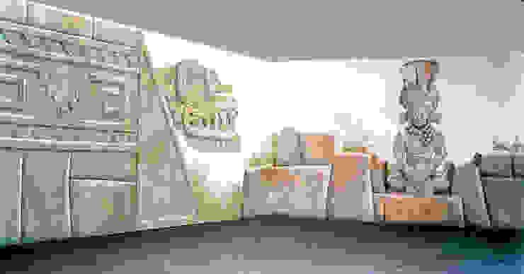 ARCHITETTURA PRECOLOMBIANA, allestimento per stand di ITALIAN DECOR