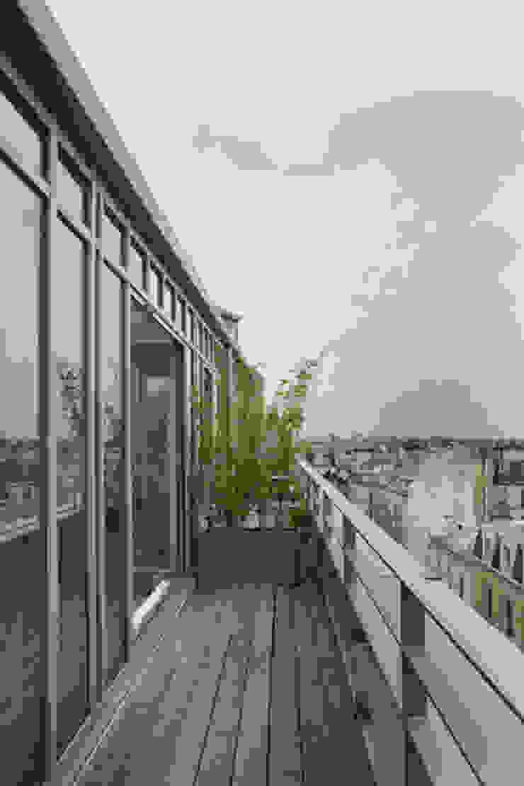 Loft LK, Paris Balcon, Veranda & Terrasse modernes par Olivier Chabaud Archtct Moderne