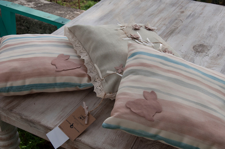 fingerscrossed – Pink Rabbit 3'lü Yastık Set: minimalist tarz , Minimalist
