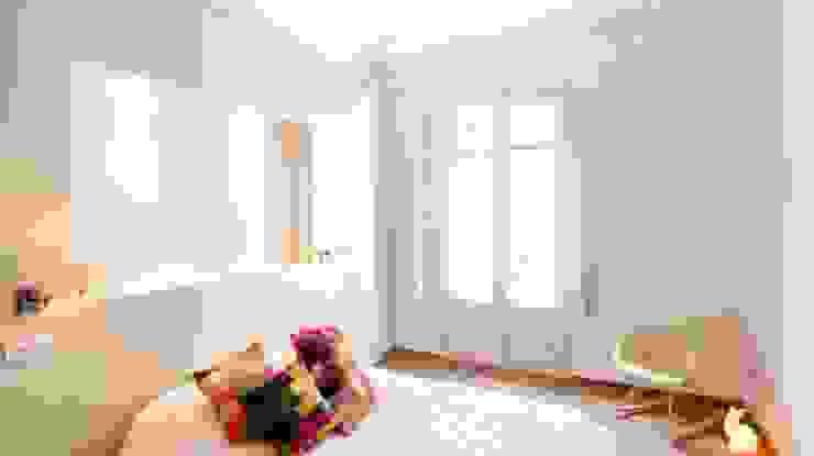Habitación de matrimonio Diseño y Comunicación Online Dormitorios de estilo clásico