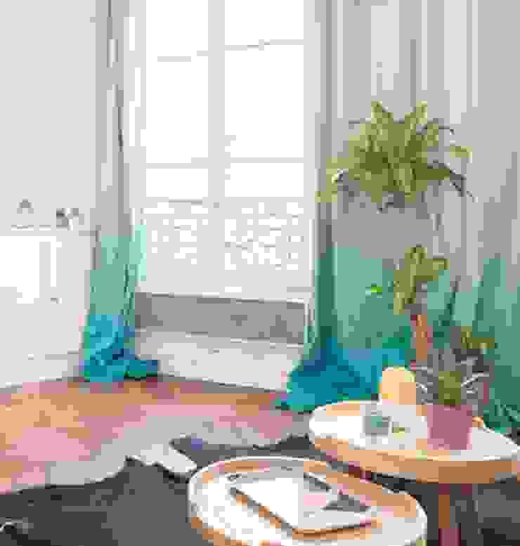 Rideaux tie and dye Salon original par Sandra Dages Éclectique