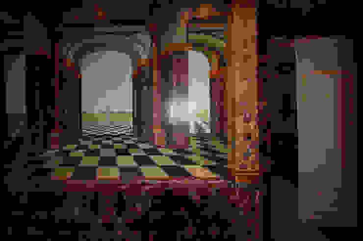 Ensemble trompe-l'oeil et imitation marbre par THIERRY HERR