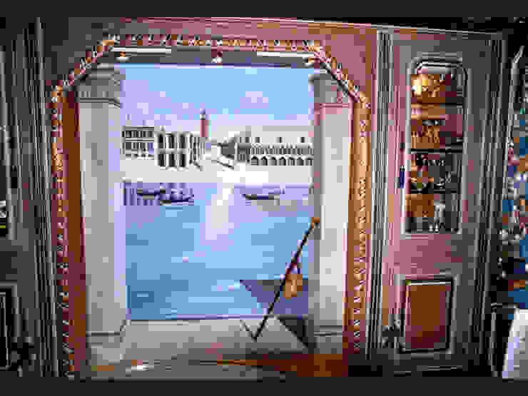 Trompe-l'oeil réalisé dans un style vénitien par THIERRY HERR