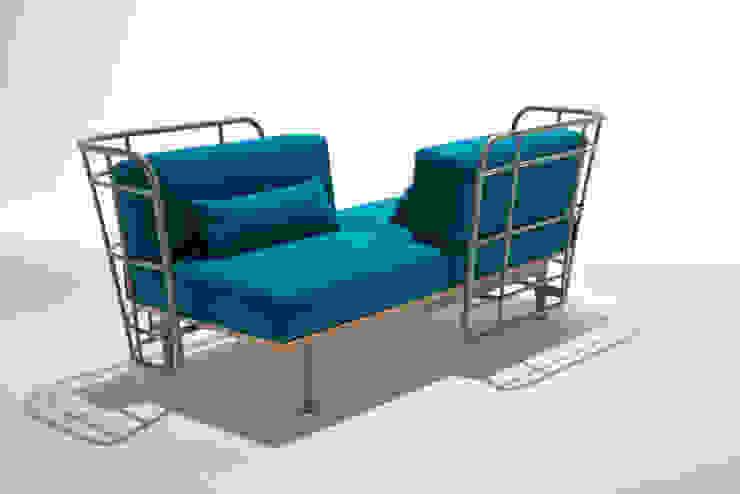 divano da esterno con schienali contrapposti di 4P1B Design Studio
