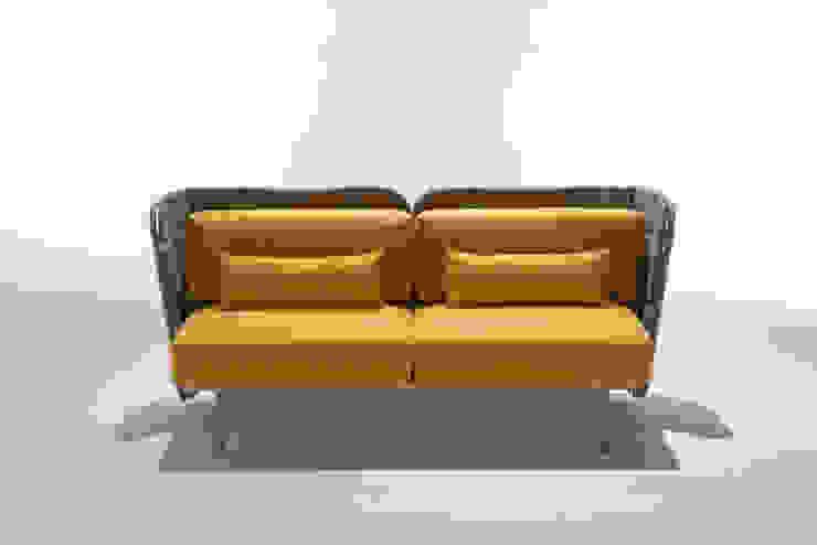 divano da interno con schienale imbottito di 4P1B Design Studio