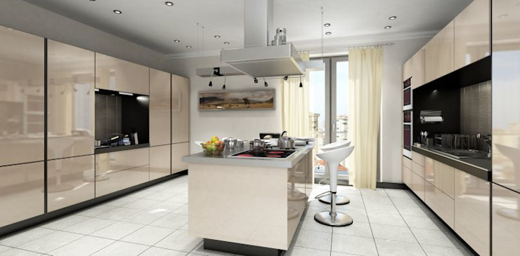 Cocinas modernas de MONO MİMARLIK İNŞAAT Moderno