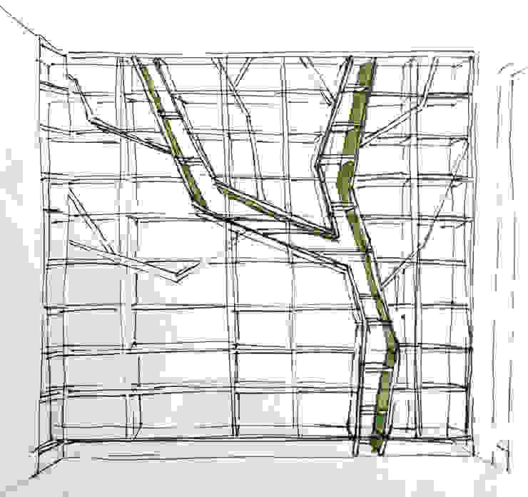 schets van Obliq Architectuur Minimalistisch