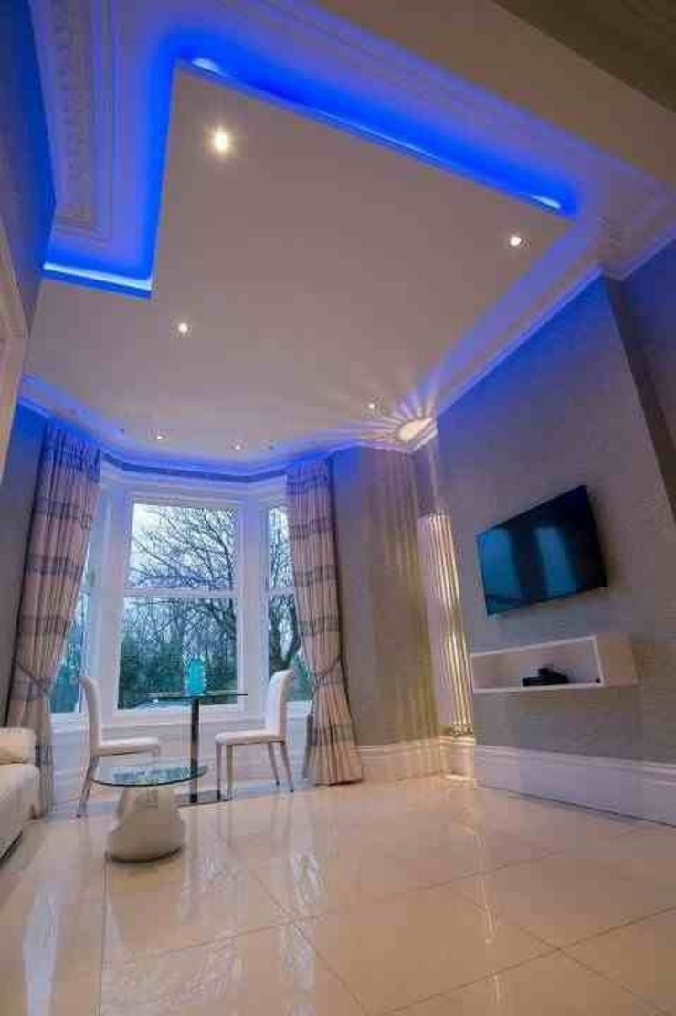 Breck apartments Living room by Lancashire design ceilings