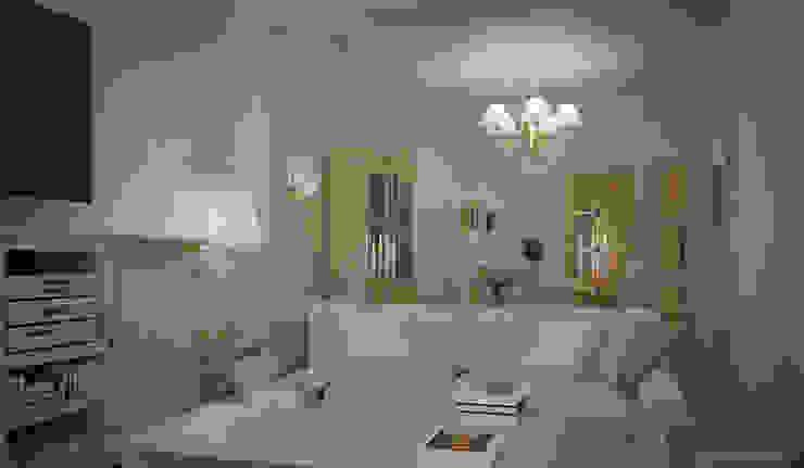 Villa a Nizza Soggiorno classico di Vittorio Bonapace 3D Artist and Interior Designer Classico