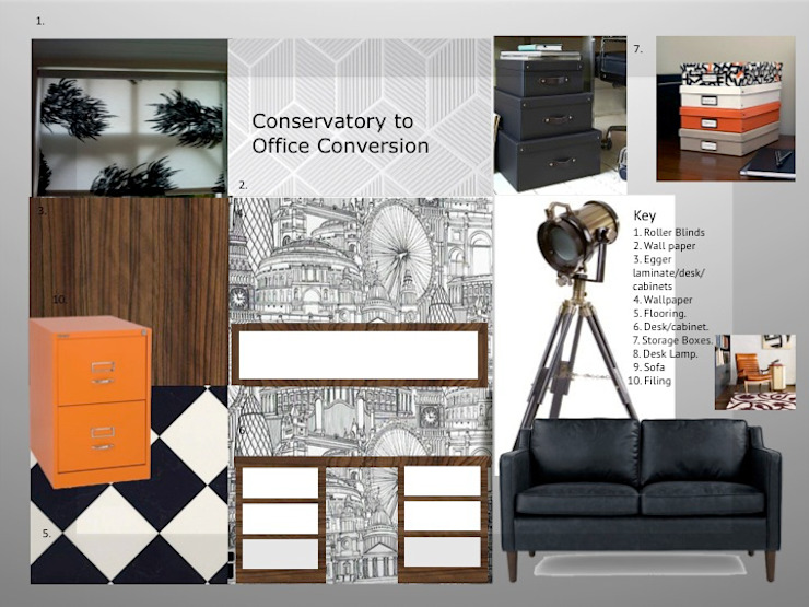 Mood Board fro Home Designer Office: modern  by Tracey Andrews Interiors, Modern