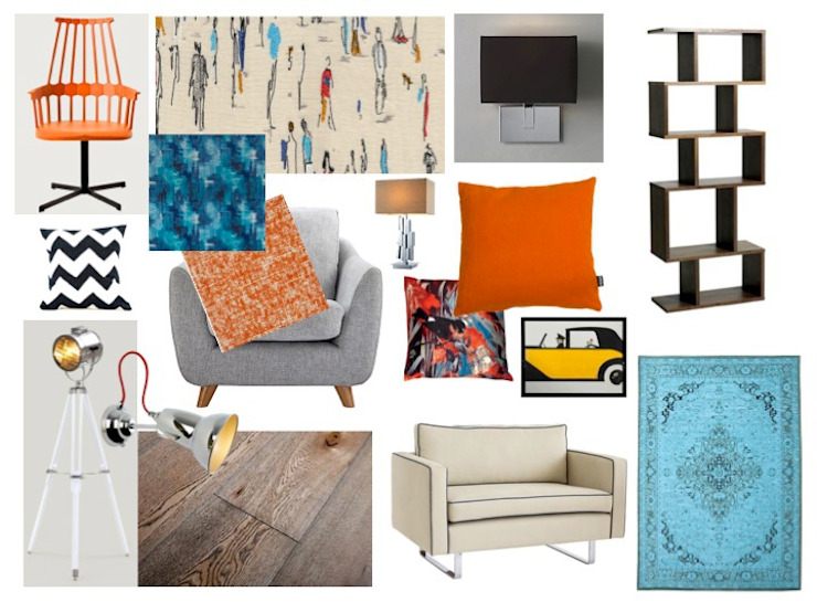 Retro Living Room: eclectic  by Tracey Andrews Interiors, Eclectic