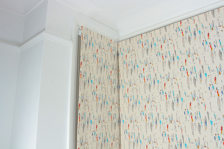 Roman Blinds- Fabric Sanderson Park Life: eclectic  by Tracey Andrews Interiors, Eclectic