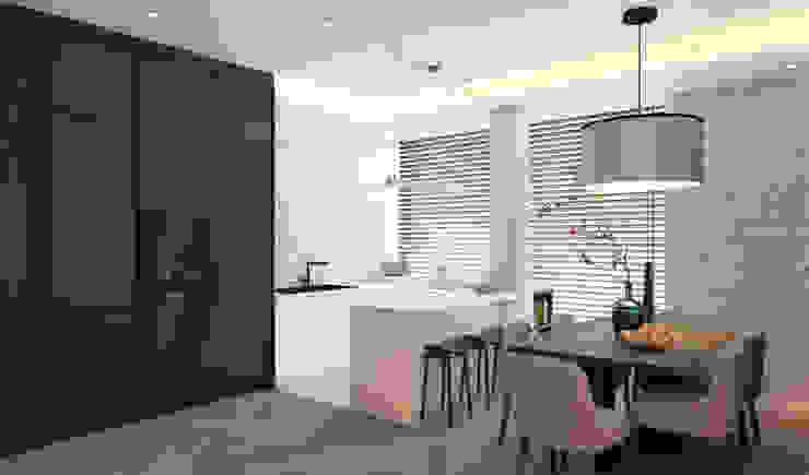 Летняя квартира у Черного моря Кухня в стиле минимализм от Котова Ольга Минимализм