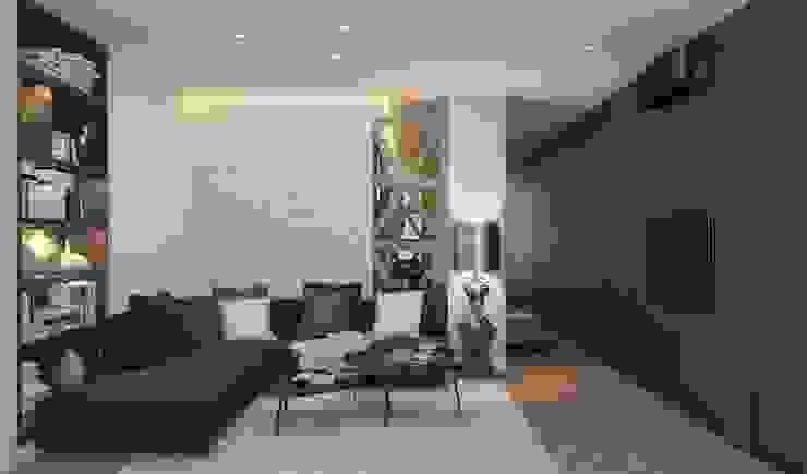 Летняя квартира у Черного моря Гостиная в стиле минимализм от Котова Ольга Минимализм