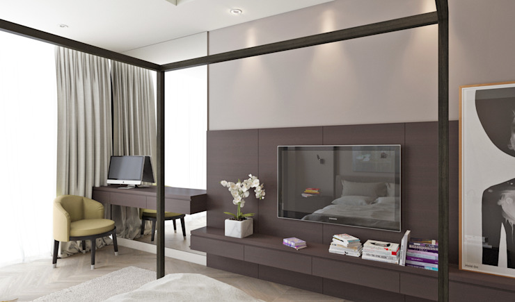 Летняя квартира у Черного моря Спальня в стиле минимализм от Котова Ольга Минимализм