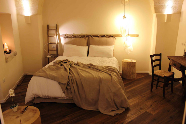 Rustic style bedroom by FRANCESCO CARDANO Interior designer Rustic