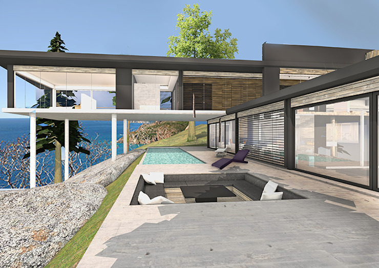 Aménager une villa de bord de mer… par Camille&Tifany Moderne